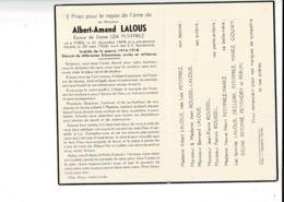 DP 8443 - ALBERT LALOUS - YPRES 1898 + 1954 - INVALIDE DE LA GUERRE 1914-1918 - DECORE - Devotion Images
