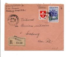 AFFRANCHISSEMENT COMPOSE SUR LETTRE RECOMMANDEE DE STRASBOURG NEUDORF 1960 - Storia Postale