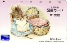 JAPON. GIFT CARD. Peter Rabbit. JP-Tosho-rabbit-002-01. (157) - Tarjetas De Regalo
