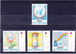 SAINT MARIN 1995 ONU Yvert 1398-1401 NEUF** MNH - San Marino