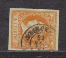 Año 1860 Edifil 52 4c Isabel II  Matasellos Orihuela Alicante Tipo II - Used Stamps
