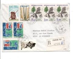 AFFRANCHISSEMENT COMPOSE SUR LETTRE RECOMMANDEE DE PARIS 51 1988 - Storia Postale