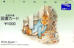 JAPON. GIFT CARD. Peter Rabbit. JP-Tosho-rabbit-003-01. (158) - Tarjetas De Regalo