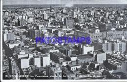 124029 ARGENTINA BUENOS AIRES PANORAMA DESDE LA TORRE DEL PALACIO BAROLO BREAK POSTAL POSTCARD - Belice
