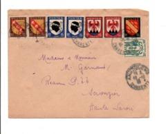 AFFRANCHISSEMENT COMPOSE SUR LETTRE DE ANGOULEME 1946 - Storia Postale