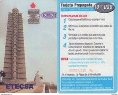 TELECARTE PHONECARDS TARJETAS TELEFONO CUBA INTERTEL 1 TC - Cuba