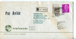 Spagna (1976) - Busta Aerea Raccomandata Per La Germania - 1931-Oggi: 2. Rep. - ... Juan Carlos I