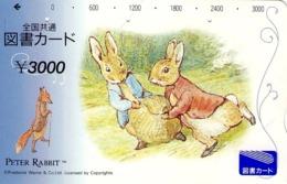 JAPON. GIFT CARD. Peter Rabbit. JP-Tosho-rabbit-005-01. (155) - Tarjetas De Regalo
