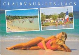 Jura        H168         Clairvaux Les Lacs. 2 Vues + Femme - Clairvaux Les Lacs