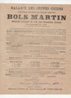 Saintes (17 Charente Maritime) Publicité PHArMACIE LARCHER: BOLS MARTIN (maladies Des Jeunes Chiens) (PPP21074) - Publicités