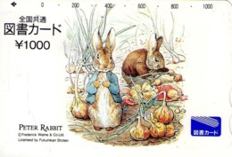 JAPON. GIFT CARD. Peter Rabbit. JP-Tosho-rabbit-012. (154) - Tarjetas De Regalo