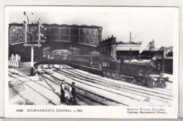 England Uncirculated Postcard - Bournemouth Central C1905 - Bahnhöfe Mit Zügen