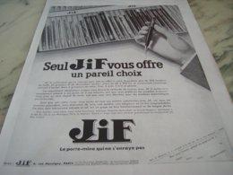 ANCIENNE PUBLICITE LE CHOIX  JIF  1932 - Andere Verzamelingen
