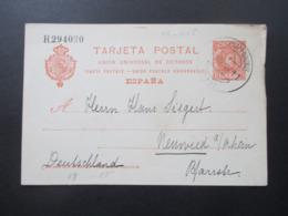 Spanien 1909 Ganzsache Verwendet Auf Teneriffa - Neuwied. Schreiber Berichtet Von Der Besteigung Des Pico De Teide 4000m - Interi Postali