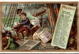 1888 !! LIEBIG SANG. Nr. 210 - CALENDRIER 3 - VOYAGE AUTOUR DU MONDE EN 12 MOIS NR. 2 Traversee - Voilier Orage - Liebig