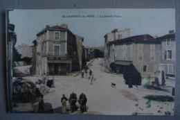 Cpa 07 Ardeche SAINT LAURENT DU PAPE Grand Place Attelage Boeufs - La Voulte-sur-Rhône