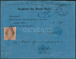 1865 Utánvételes Címszalag 'BASEL' - Laufen - Francobolli