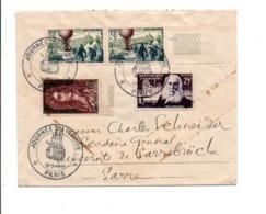 AFFRANCHISSEMENT COMPOSE SUR LETTRE DE PARIS POUR LA SARRE 1955 - Storia Postale