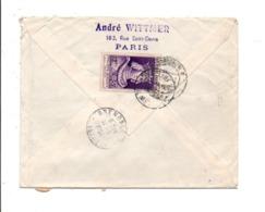 AFFRANCHISSEMENT COMPOSE SUR LETTRE DE PARIS POUR LA SARRE 1955 - Marcophilie (Lettres)