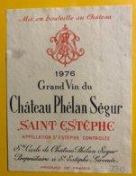 12153 - Château Phélan Ségur 1976 Saint-Estèphe - Bordeaux