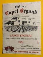 12155 - Château Capet Bégaud 1981 Canon Fronsac - Bordeaux