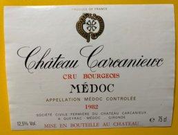 12157 - Château Carcanieux 1982 Médoc - Bordeaux