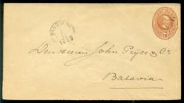 Nederlands Indie 1889 Voorgefrankeerde Brief Van Bandoeng Naar Batavia Geuzendam 6 - Niederländisch-Indien