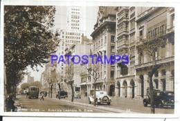 124045 ARGENTINA BUENOS AIRES AVENIDA LEANDRO N. ALEM & TRANVIA CIRCULATED TO PERU  POSTAL POSTCARD - Belice