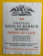 12162 - Château Sigalas Rabaud 1976 Sauternes - Bordeaux