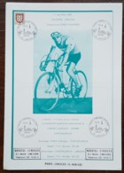 YT N°900 Sur Document - PARIS LIMOGES CYCLISTE / ARRIVEE / Programme De La Course - LIMOGES - 1976 - France