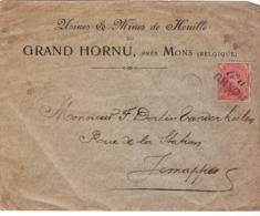PLI AFFRANCHIS  ROI ALBERT 10 CTS CACHET FORTUNE  HORNU 26 XI - Postmark Collection