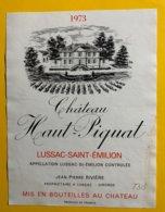 12164 - Château Haut-Piquat 1973 Lussac Saint Emilion - Bordeaux