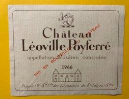 12166 - Château Léoville Poyferré 1966 Saint Julien - Bordeaux
