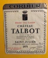 12167 - Château Talbot 1975 Saint-Julien - Bordeaux