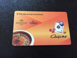 Hotelkarte Room Key Keycard Clef De Hotel Tarjeta Hotel  BUSAN PARADISE HOTEL 6 CASINO - Telefonkarten