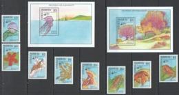 D255 1990 ANTIGUA & BARBUDA FISH & MARINE LIFE #1320-29 MICHEL 23 EU SET+2BL MNH - Meereswelt
