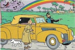Hergé   *   Tintin  - Kuifje & Kapitein Haddock  (CPM Publicitaire Q8) - Bandes Dessinées