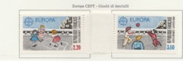 PIA - Francia - 1989 : EUROPA  - Giochi Di Bambini- (Yv  2584-85) - Europa-CEPT