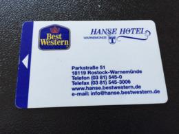 Hotelkarte Room Key Keycard Clef De Hotel Tarjeta Hotel  ROSTOCK-WARNEMÜNDE HANSE HOTEL  With Casino On Back - Telefonkarten