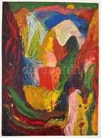 Cs. Németh Miklós (1934-2012): Aktok A Szabadban. Olaj, Papír, Jelzés Nélkül, 47×34 Cm - Non Classificati