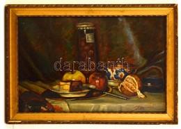 Racy Jelzéssel: Asztali Csendélet. Olaj, Karton, Jelzett, Keretben, 36×53 Cm - Non Classificati