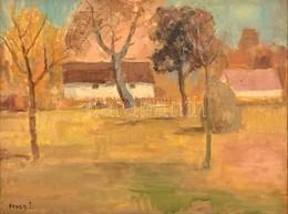 Rozs János (1901-1987): Falusi Házak. Olaj, Vászon, Jelzett, Keretben, 60×80 Cm - Non Classificati