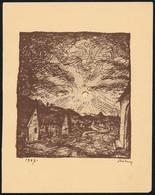 Rudnay Gyula (1878-1957): Faluvég, Cinkográfia, Papír, Jelzett A Cinkográfián, 13x11,5 Cm - Non Classificati