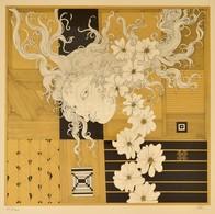 Szász Endre (1926-2003): Női Arc. Szitanyomat, Papír, Jelzett, üvegezett Keretben, 40×40 Cm - Non Classificati