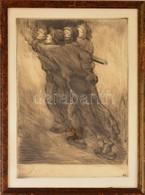 SZ.J. Jelzéssel: Munkások. Rézkarc, Papír, üvegezett Keretben, 41×29 Cm - Non Classificati