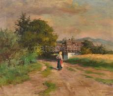 Szontágh Tibor (1873-1930): Hazafelé. Olaj, Vászon, Jelzett,  Restaurált, 50×60 Cm - Non Classificati