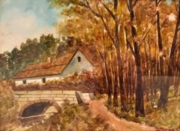 Szűcs Jelzéssel: Kőhíd. Akvarell, Papír, üvegezett Keretben, 24×32 Cm - Non Classificati