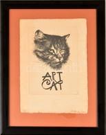 Szyksznian Wanda (1948-): Art Cat. Rézkarc, Papír, Jelzett, üvegezett Keretben, 17,5×13 Cm - Non Classificati