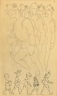 Cca 1910 TT Jelzéssel: Az Ifjak álma. Tus, Papír, üvegezett Keretben, 17×11 Cm - Non Classificati