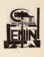 Uitz Béla (1887-1972): Borítólap Terv 1924. Szitanyomat. Készítette 1979-ben 130 Példányban A Pesti Műhely: Bak Imre, Fa - Non Classificati